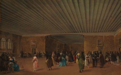 Francesco Guardi Il ridotto pubblico a palazzo Dandolo