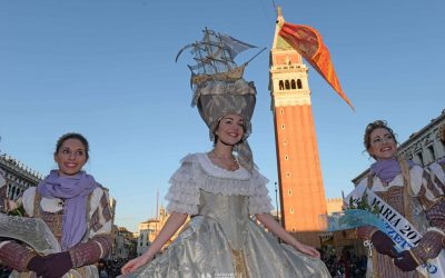 Venezia,{ today}, carnevale 2018 - martedi grasso marie in piazza (c)Vision/Vela
